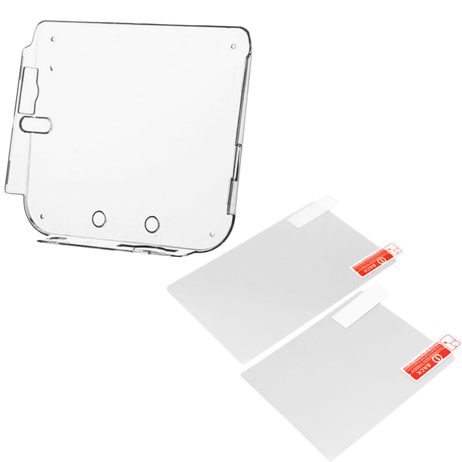 Clear Shockproof Silicone Protective Skin Wrap Case Cover Shell Sleeve with 2 Screen Protector Film for Nintendo 2DS Console - intl