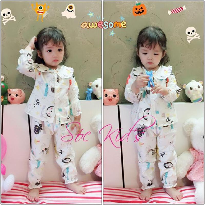 Nơi bán Pijama Dễ Thương Cho Bé gái - Trắng Họa Tiết