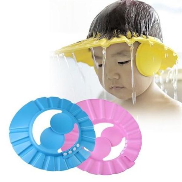 Mũ chắn nước chất xốp mềm, êm có vành che tai cho bé