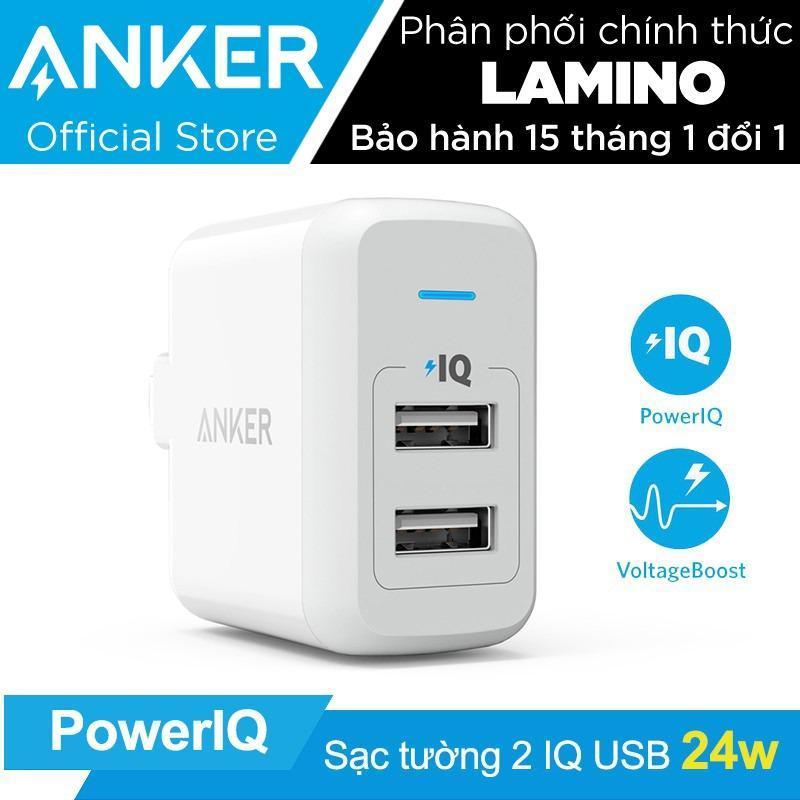 Giá Sạc ANKER PowerPort 2 cổng 24w có PowerIQ (Trắng) – Hãng Phân Phối Chính Thức