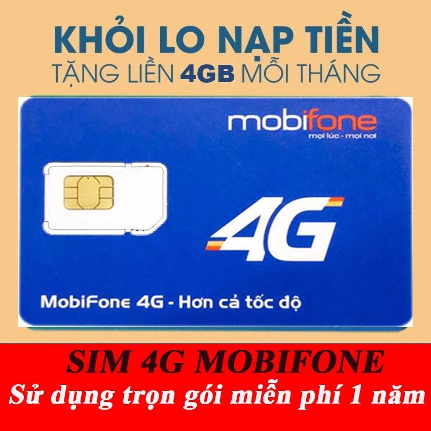 Giá Bán Sim 3G 4G Mobifone Mdt250A Trọn Goi 1 Năm Khong Cần Nạp Tiền Mua Về Dung Ngay Rẻ
