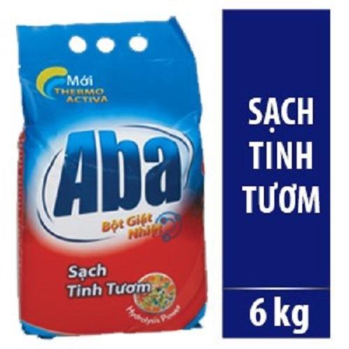 Bột Giặt Nhiệt Aba Sạch Tinh Tươm 6kg Có Giá Rất Cạnh Tranh