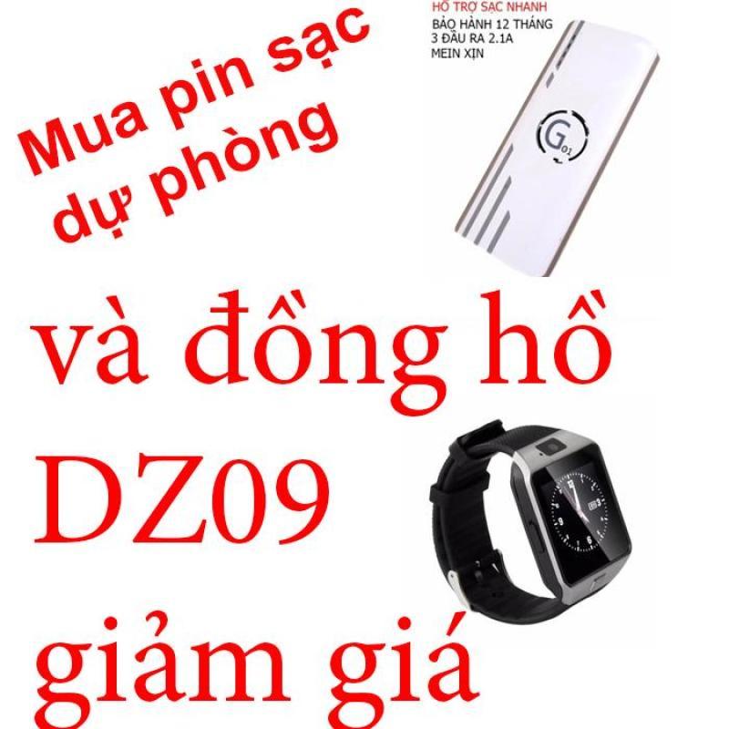 Bảng giá Combo  Pin sạc dự phòng G01 Litinum 20000MAH (Trắng) -hổ trợ sạc nhanh + ĐỒNG HỒ DZ09 Phong Vũ