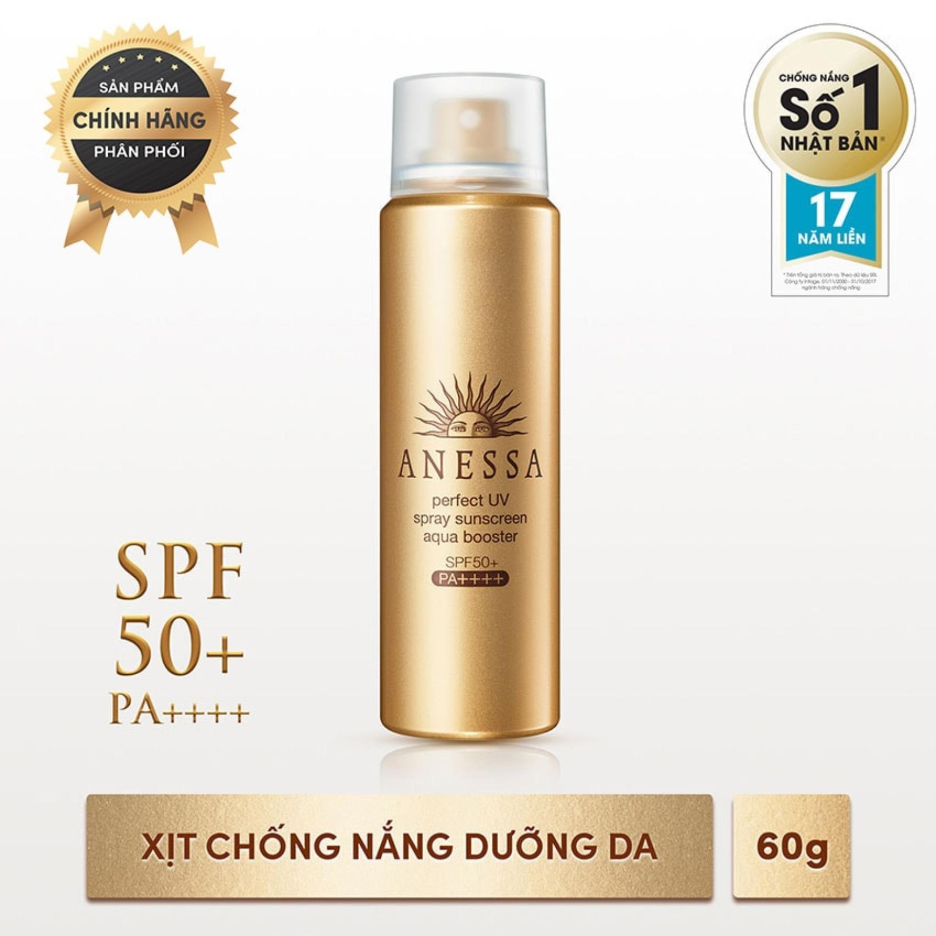 Xịt chống nắng bảo vệ hoàn hảo khô thoáng Anessa Perfect UV Sunscreen Skincare Spray - SPF50+, PA++++ - 60g
