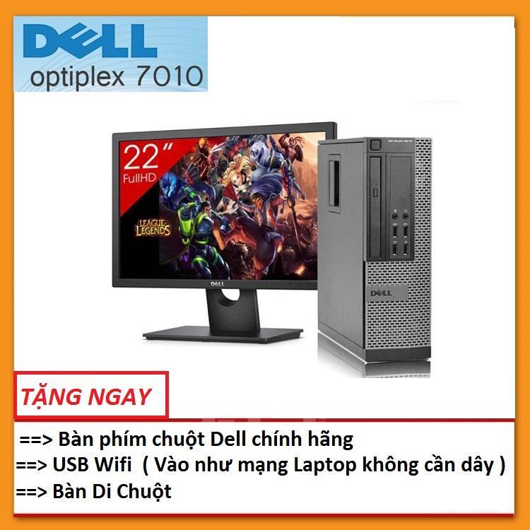 Bộ Máy Tính Đồng Bộ Dell Optiplex 7010 ( Core i5 / 8G / 500G ) Và Màn Hình Dell 21,5 inch Full HD - Wide - LED (FPT) ,Tặng Bàn phím chuột Dell + USB wifi + Bàn di chuột , Bảo hành 24 tháng - Hàng Nhập Khẩu
