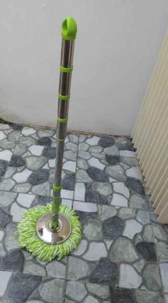 Cây lau nhà thông minh, xoay 360 thân cây bằng inox + đĩa inox cao cấp