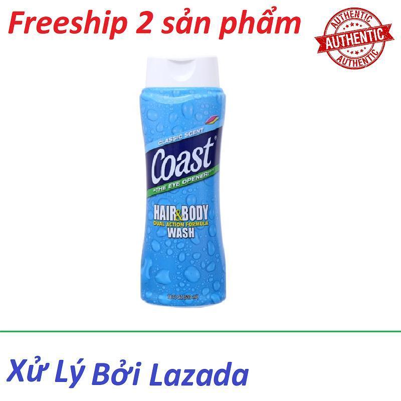 Sữa tắm gội Coast dành cho nam 532ml nhập khẩu