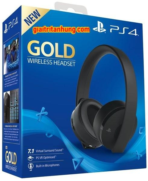 TAI NGHE KHÔNG DÂY PLAYSTATION 4 GOLD WIRELESS 7.1 2018