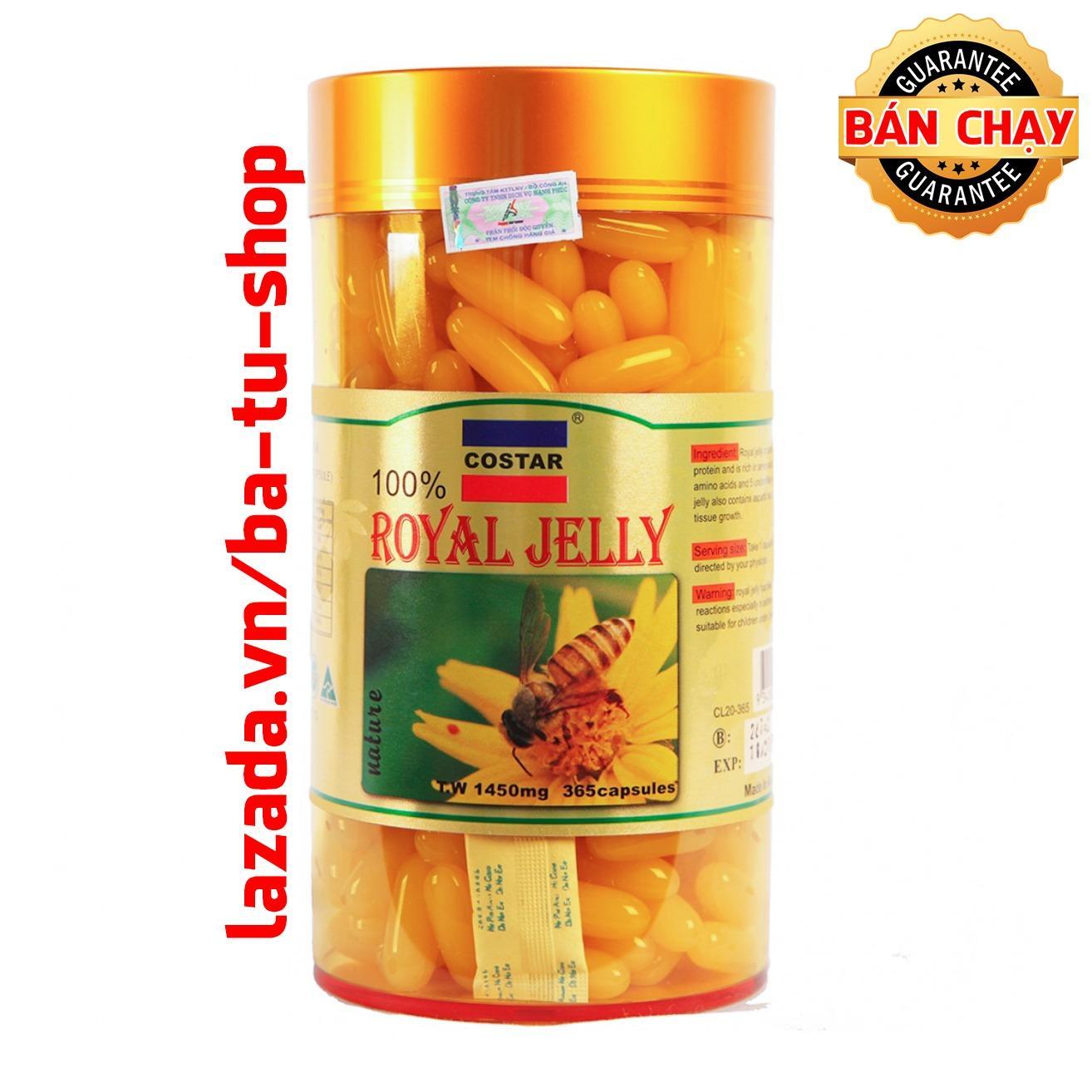 Sữa Ong Chúa Costar Royal Jelly Soft Gel Capsules 1450mg (365 viên)