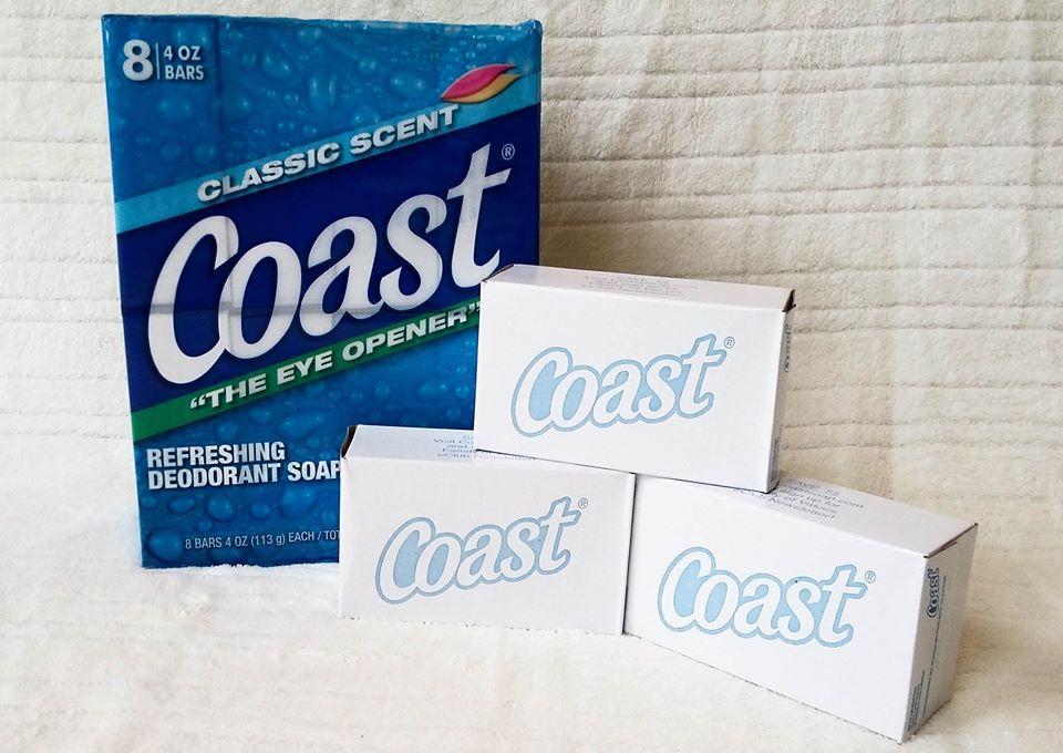 Lốc 8 bánh xà bông Coast 113g (Made in USA)