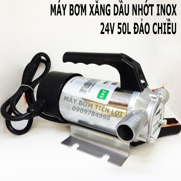 Máy bơm xăng dầu 24V 50L INOX