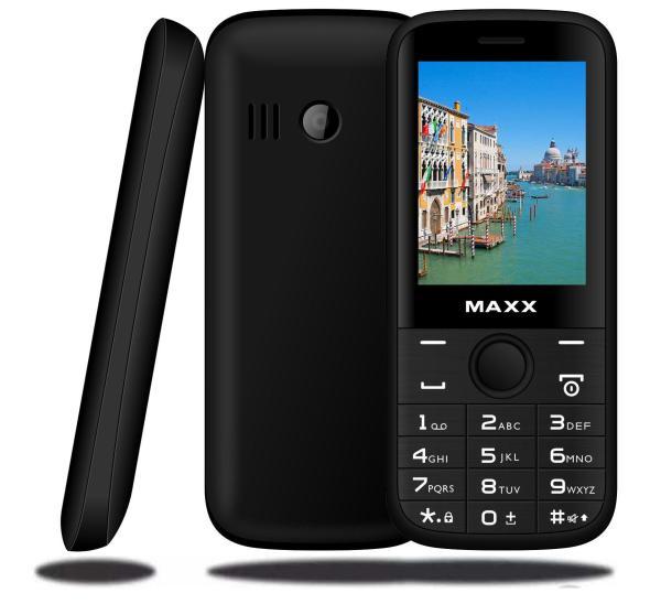 Điện thoại di động MAXX N6610 màn hình cong rộng 2.4 inch, pin khủng 1500 mAh (Đen)