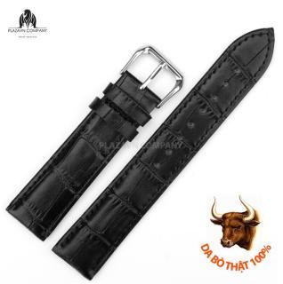 Dây đồng hồ da bò thật (size 22mm) có sẵn khóa không gỉ + Tặng chốt dây và thay dây thumbnail