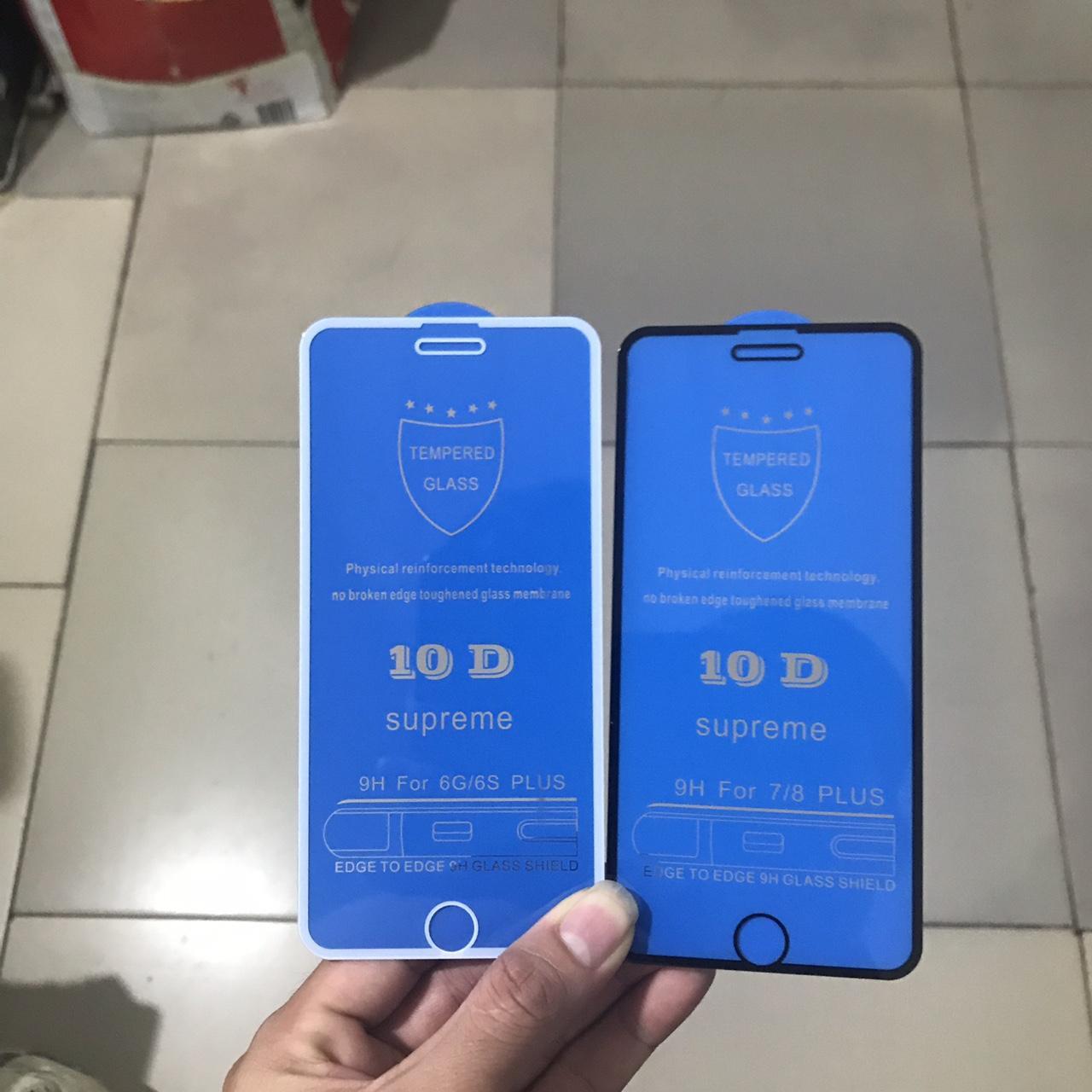 Hình ảnh Kính cường lực 10D Full màn trong mầu viền (Tặng nút home) cho Iphone 6, 6s,6splus, 7, 7Plus, 8, 8Plus, X MÀU TRẮNG