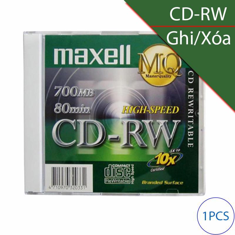 Hình ảnh Đĩa trắng CD-RW (ghi và xóa nhiều lần) 700Mbps 80min 4x-10x MAXELL (1 chiếc)