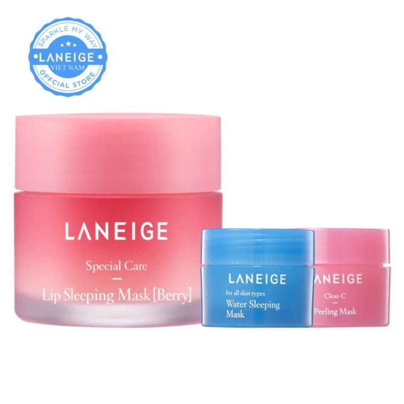 Mặt nạ ngủ cho môi hương quả mọng Laneige Lip Sleeping Mask Berry 20g + Tặng Mặt nạ tẩy tế bào chết 15ml + Mặt nạ ngủ 15ml
