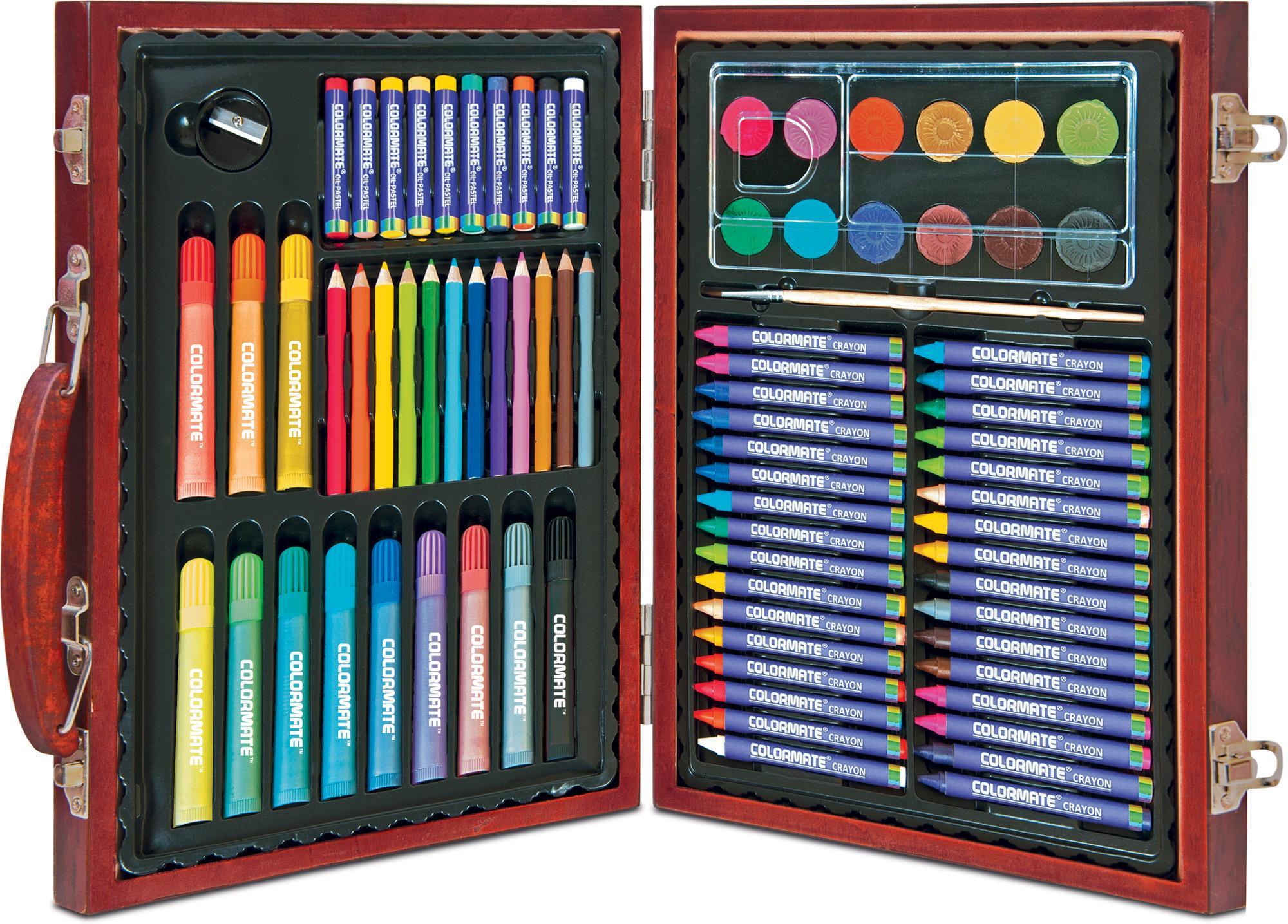 Mã Khuyến Mại Bộ Màu Vẽ đa Năng Hộp Gỗ Colormate MS-82W