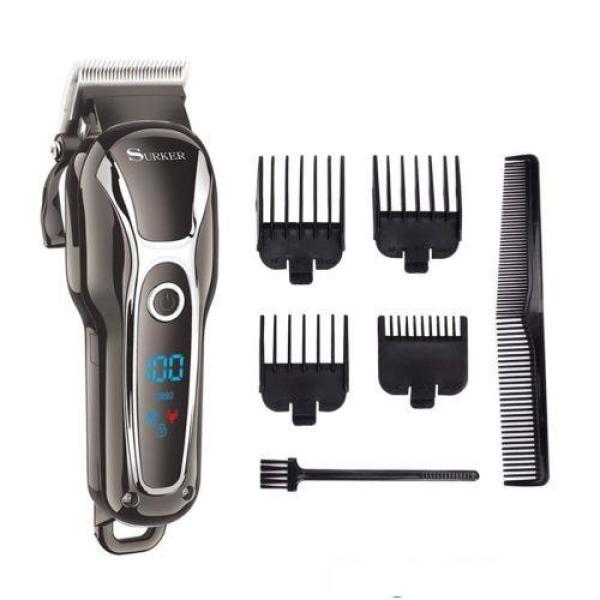 [Nhập ELMAY21 giảm 10% tối đa 200k đơn từ 99k]Tông đơ cắt tóc chuyên nghiệp cho salon SURKER 805 lưỡi sắt giá rẻ