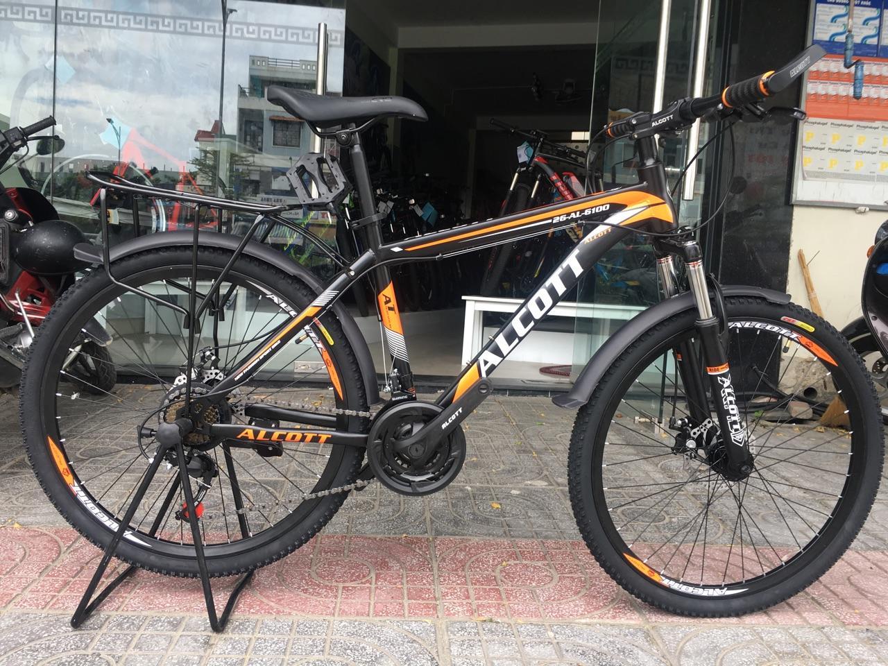 Xe đạp địa hình Alcott 26AL 6100 Black Orange