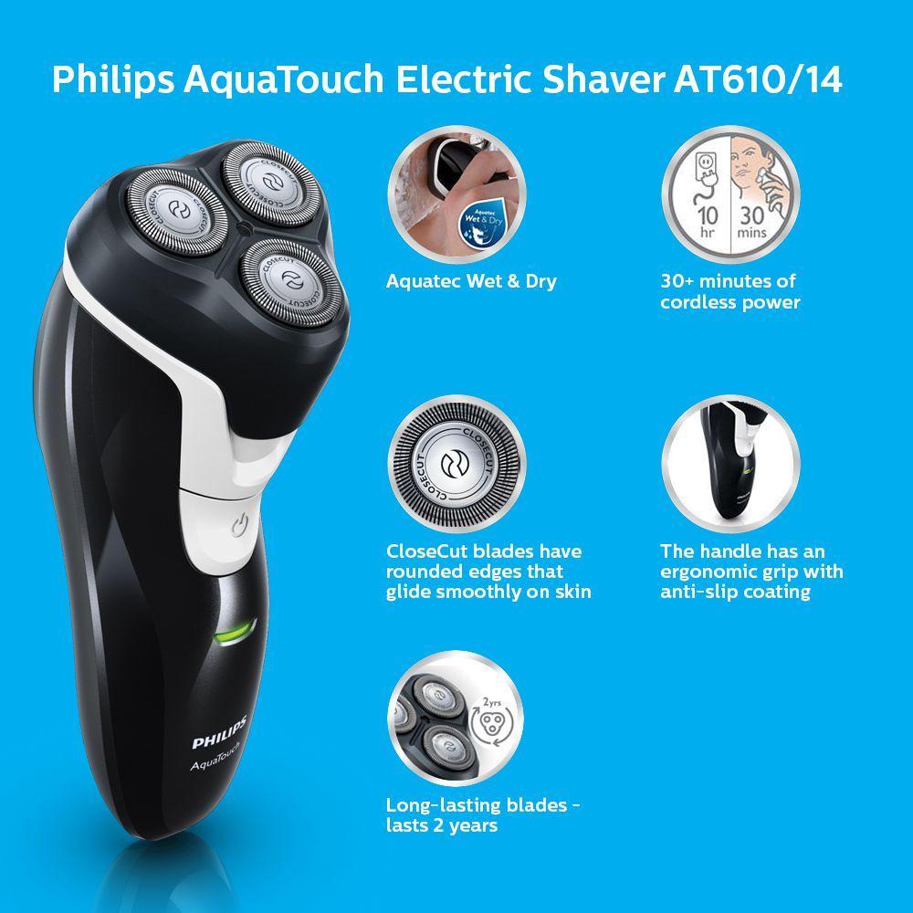 Máy cạo râu Philips AT610 (Đen)