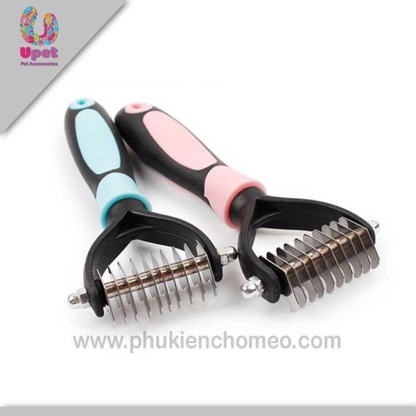 HN-SP908 - Lược gỡ lông cục chữ F (hanpet 4711773) lược gỡ lông rối chó mèo