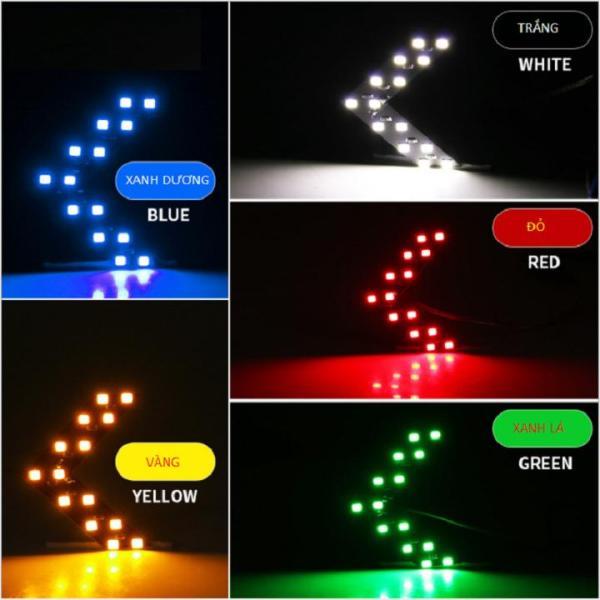 Bộ 4 mũi tên đèn LED xi nhan ô tô, xe máy sáng xanh lá