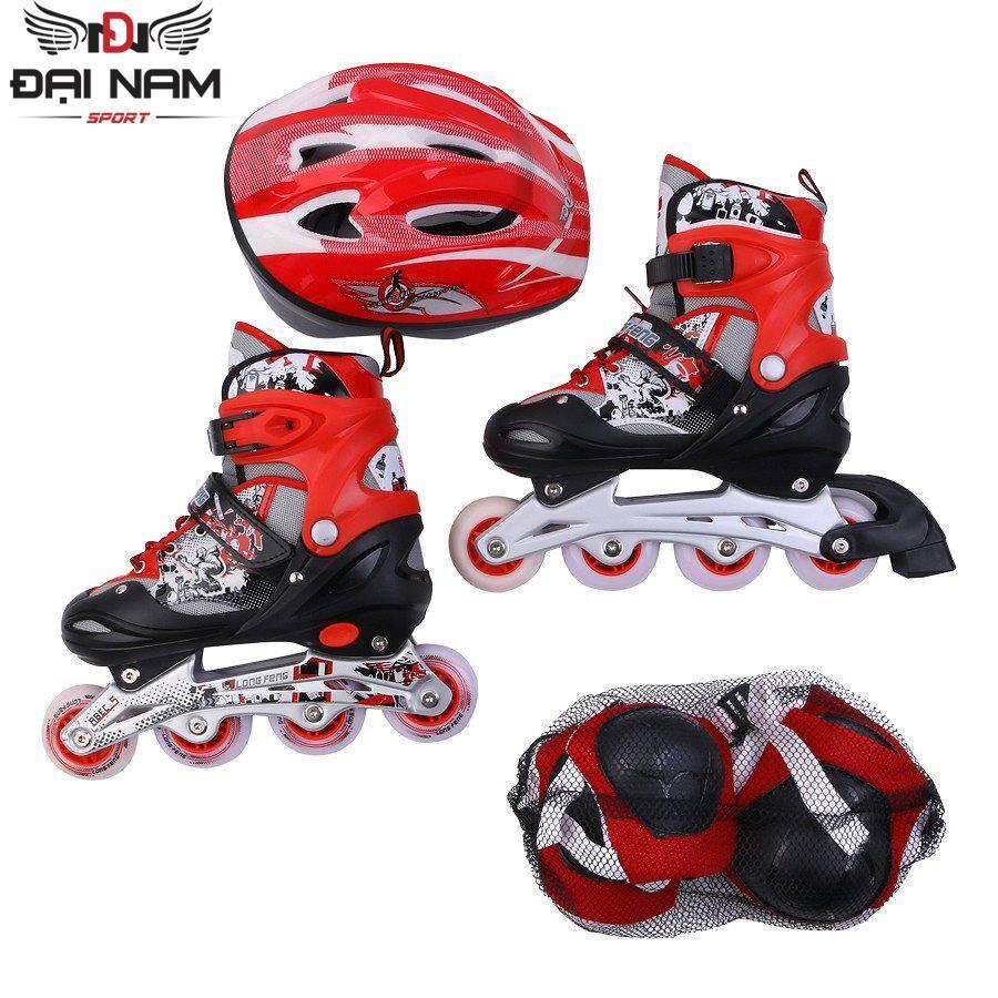 Mua Giày trượt patin Longfeng 906 size M (Từ 6-10 tuổi 35-38) + Tặng bộ bảo hộ