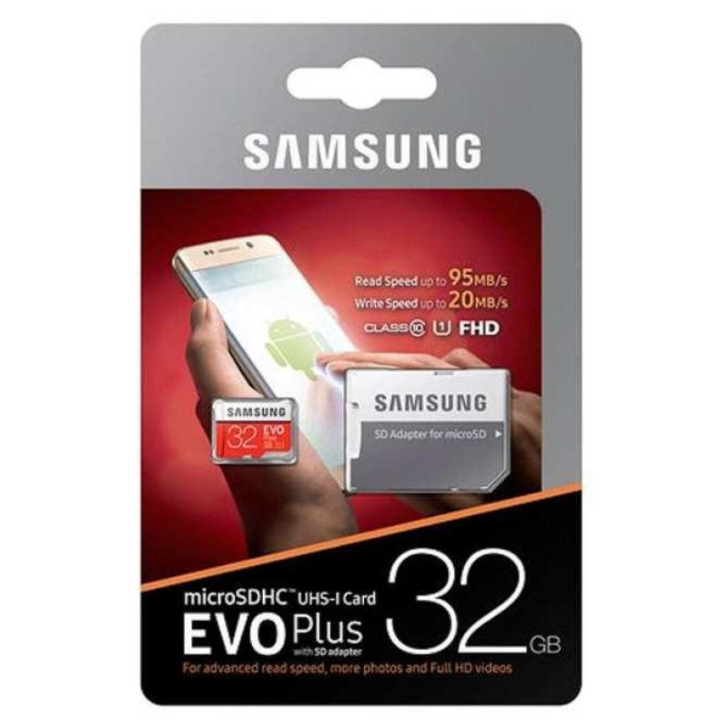Thẻ nhớ MicroSDHC Samsung Evo Plus 32GB 95MB/s kèm Adapter - box Anh (Đỏ)