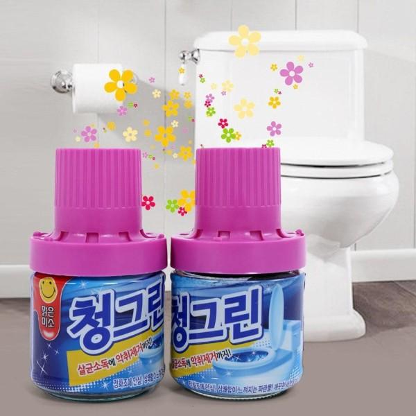 Combo 2 chai sáp thơm Hàn Quốc thả bồn cầu khử mùi, diệt khuẩn