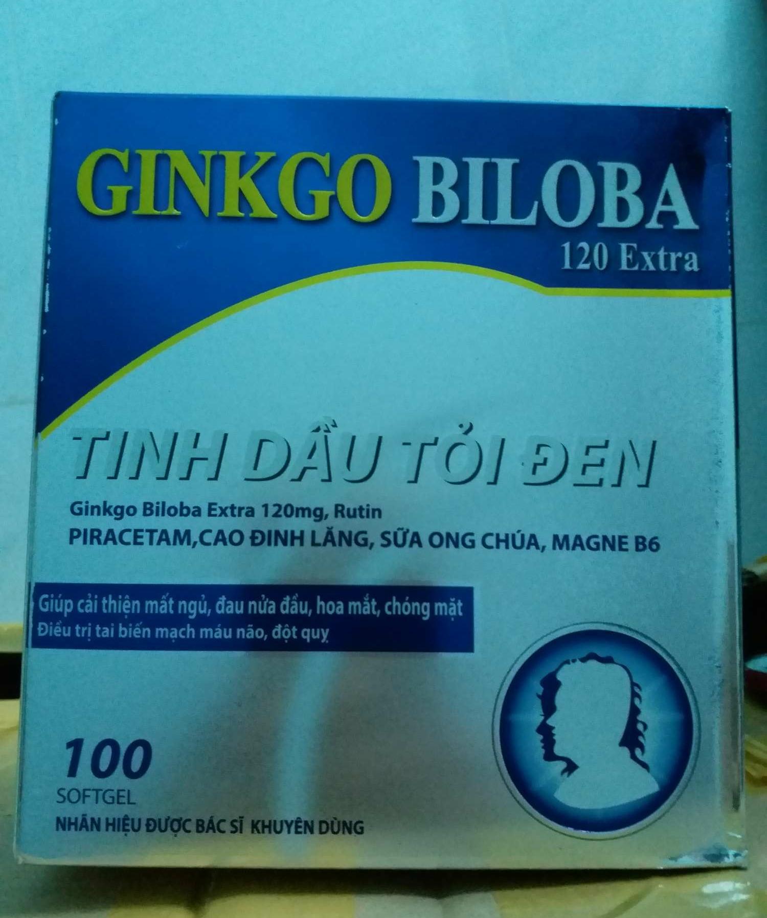 Ginkgo biloba tinh dầu tỏi đen