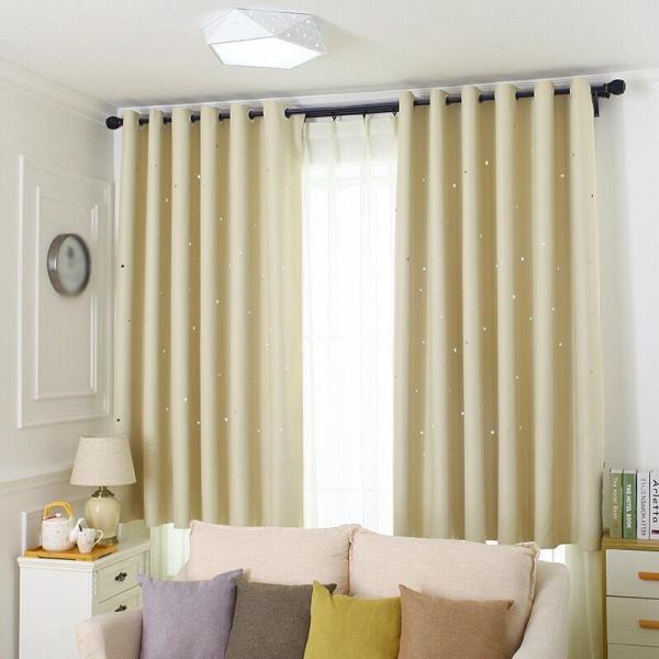 Rèm cửa trang trí - rèm vải cao cấp - Họa Tiết Ngôi Sao Xinh HYJ01. Hàng uy tín chất lượng, giá tốt.