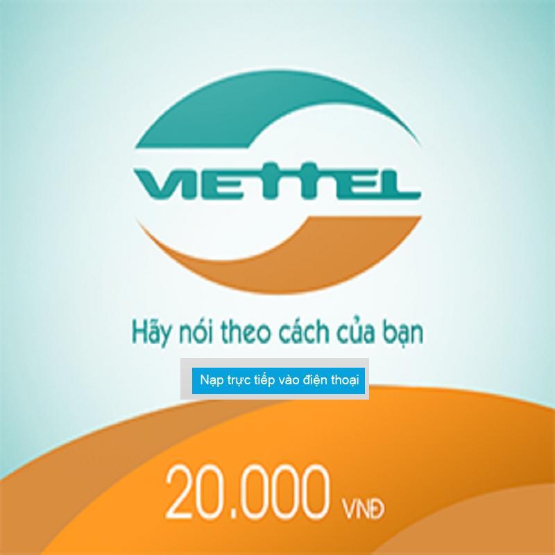 Nạp Tiền Viettel 20.000 VNĐ