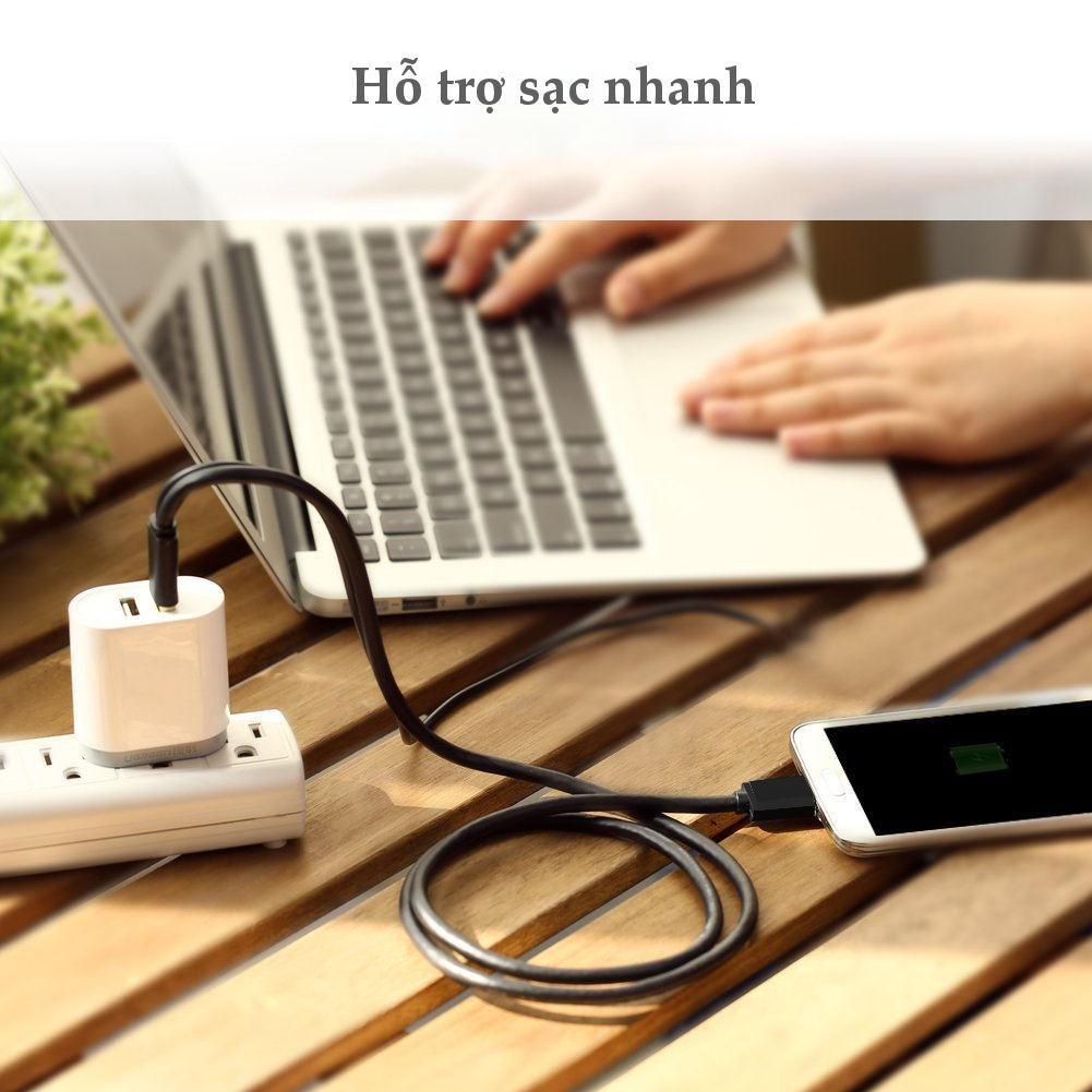 Cáp USB 3.0 sang Micro B sạc và đồng bộ dữ liệu cho điện thoại thông minh Android và máy tính bảng UGREEN US140