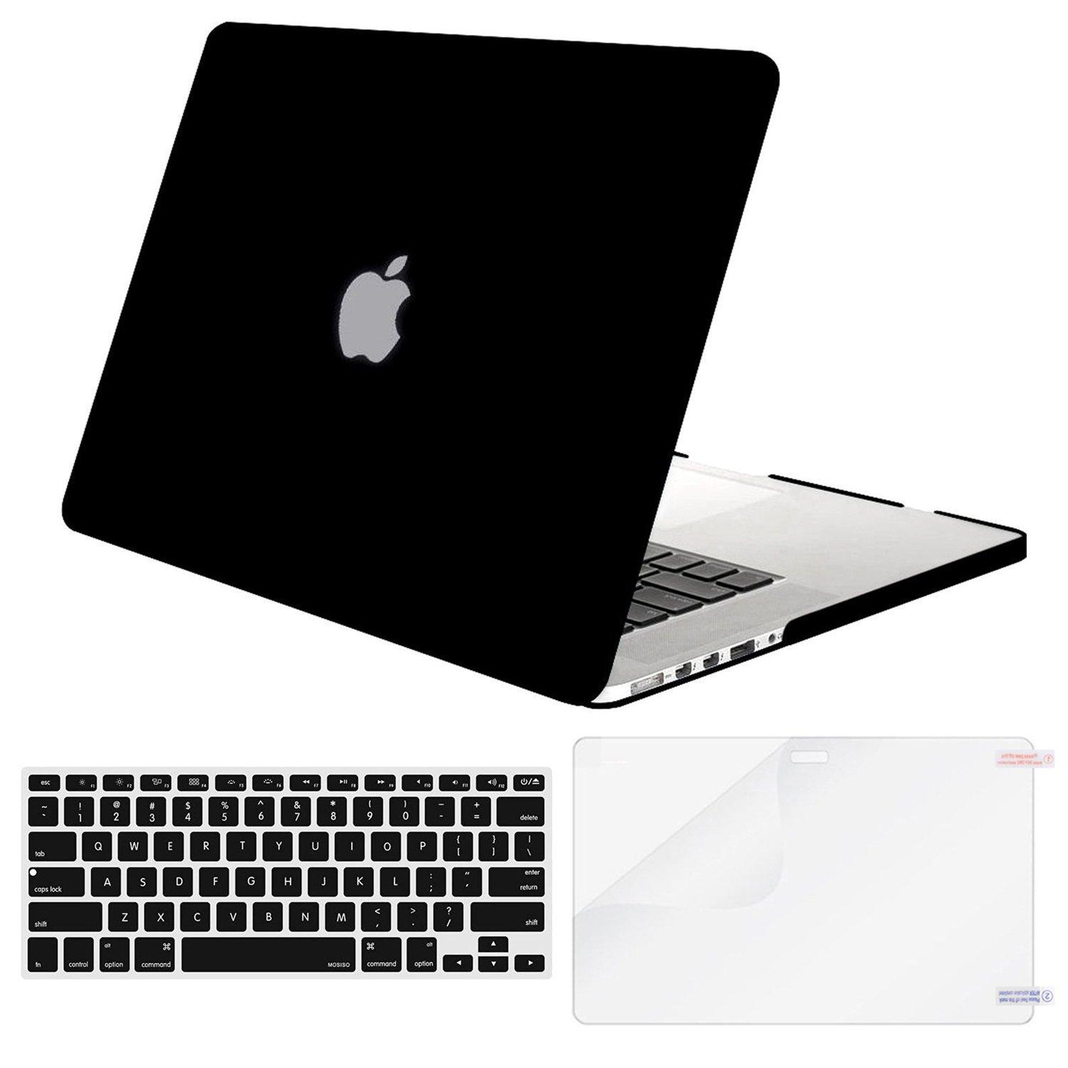 Hình ảnh MacBook Air 13 Case Transparent Frosted Plastic Hard Shell Case Cover Bundle for Apple MacBook Air 13 Inch A1369/ A1466 Contains Keyboard Cover and Screen Protector