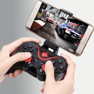 Tay cầm chơi game Liên Quân tặng kèm giá đỡ điện thoại Terios T3 -Tay Cầm Chơi Game Bluetooth Terios T3 X3 -Bộ tay cầm chơi game - Tay cầm chơi game không dây bluetooth thumbnail