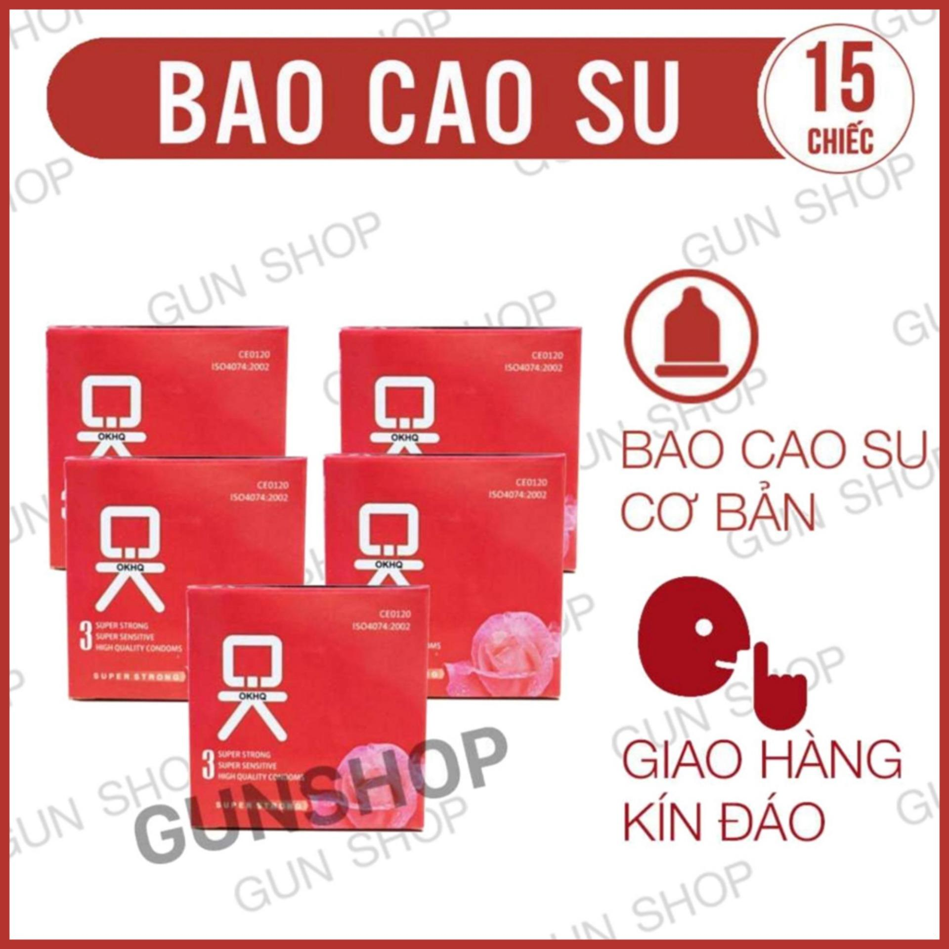 Bộ 5 Hộp Bao Cao Su OK Không Mùi (Hộp 3 chiếc) - [ Gunshop-BCS05 ]
