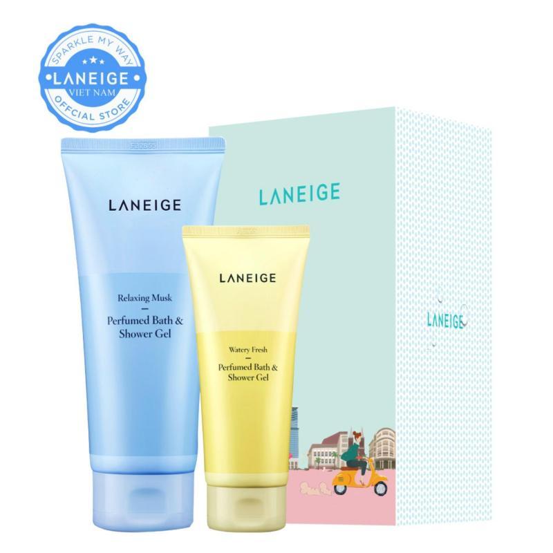 Bộ quà tặng sữa tắm gel hương nước hoa Laneige Relaxing Musk Perfumed Bath & Shower Gel nhập khẩu