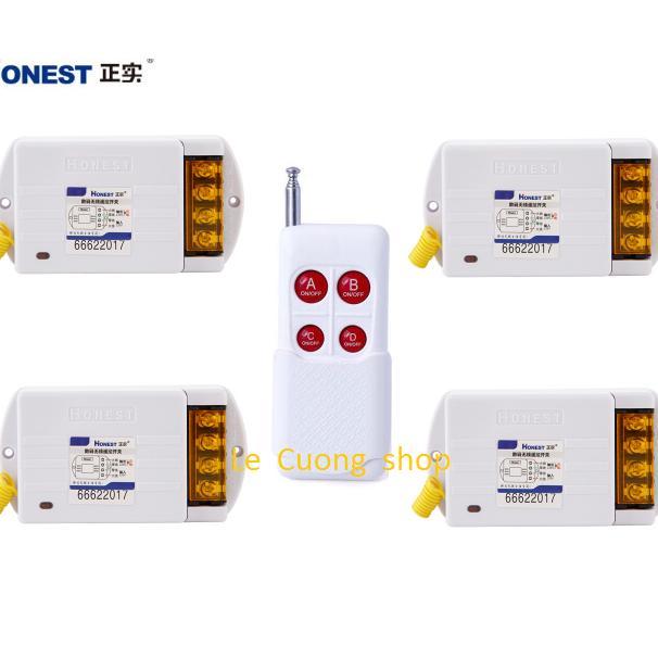 Bộ điều khiển từ xa công suất lớn 4 cổng độc lập(4 thiết bị riêng biệt) Honest 220v 40A