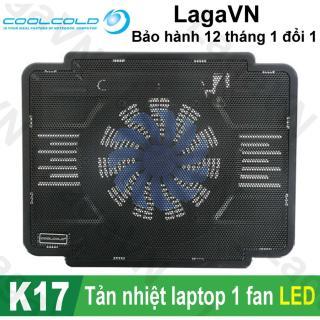 Đế tản nhiệt laptop COOLCOLD Thin Ice K17 1 quạt (Đen) thumbnail