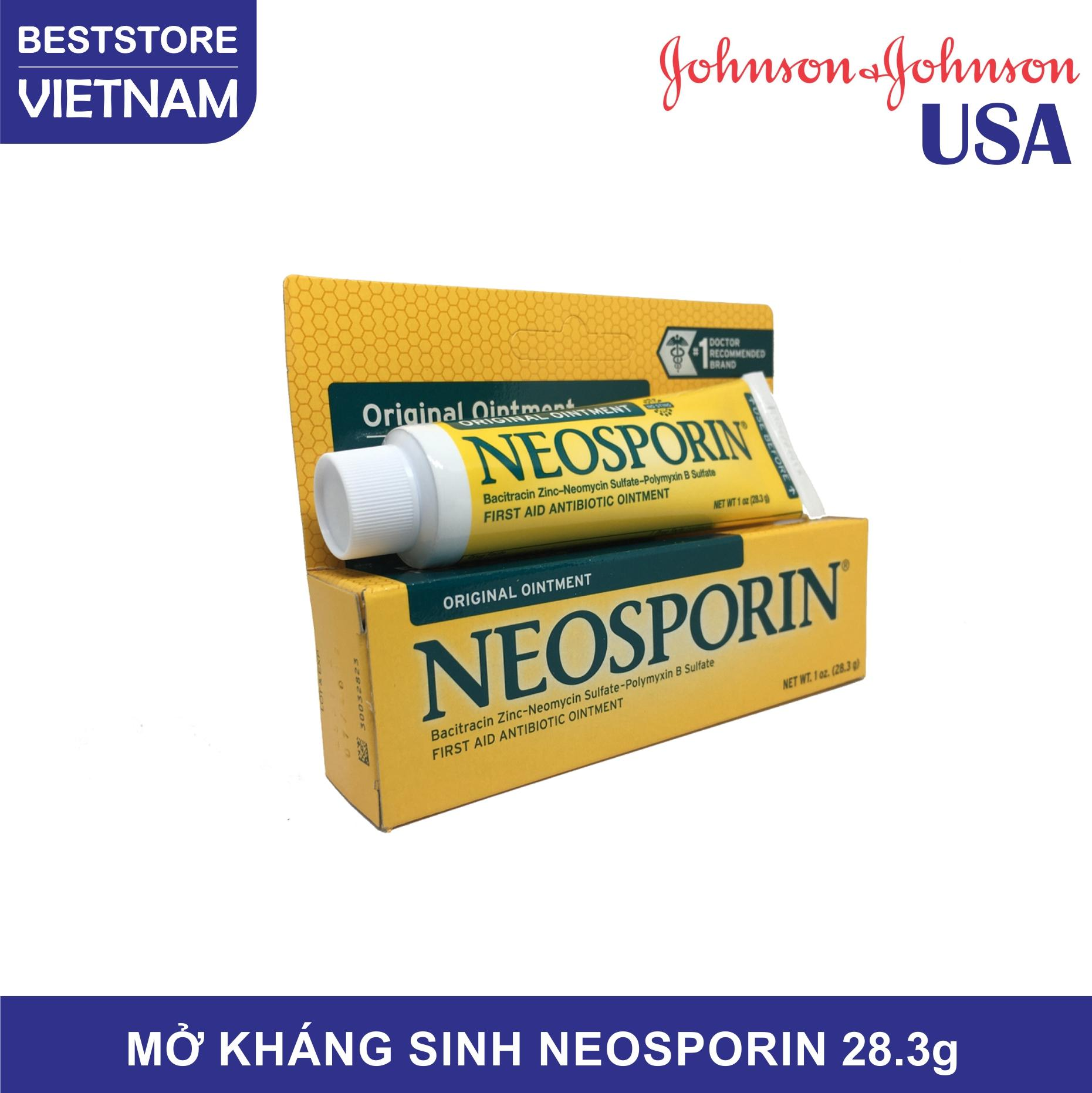 Mỡ Kháng Sinh NeoSporin - Original Ointment 28.3g, sản phẩm của Johnson & Johnson USA, giúp kháng viêm, hạn chế thẹo, giảm đau, giảm mẩn ngứa do côn trùng cắn hiệu quả, dùng được cho cả thú cưng
