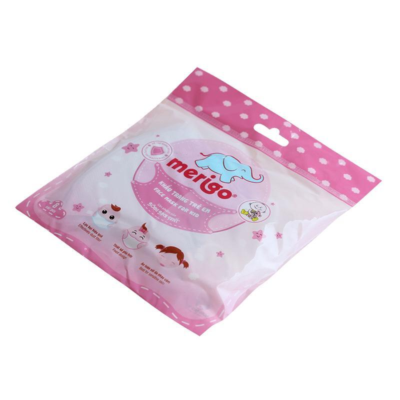 Bộ 5 Khẩu trang Merigo cho bé (Hồng) - Gian hàng chính hãng Công ty Cổ Phần Bông Bạch Tuyết.