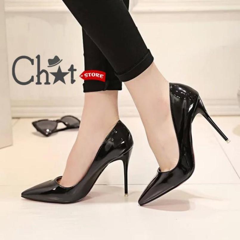 Giày Cao Gót Nữ Trơn Mũi Nhọn giá rẻ