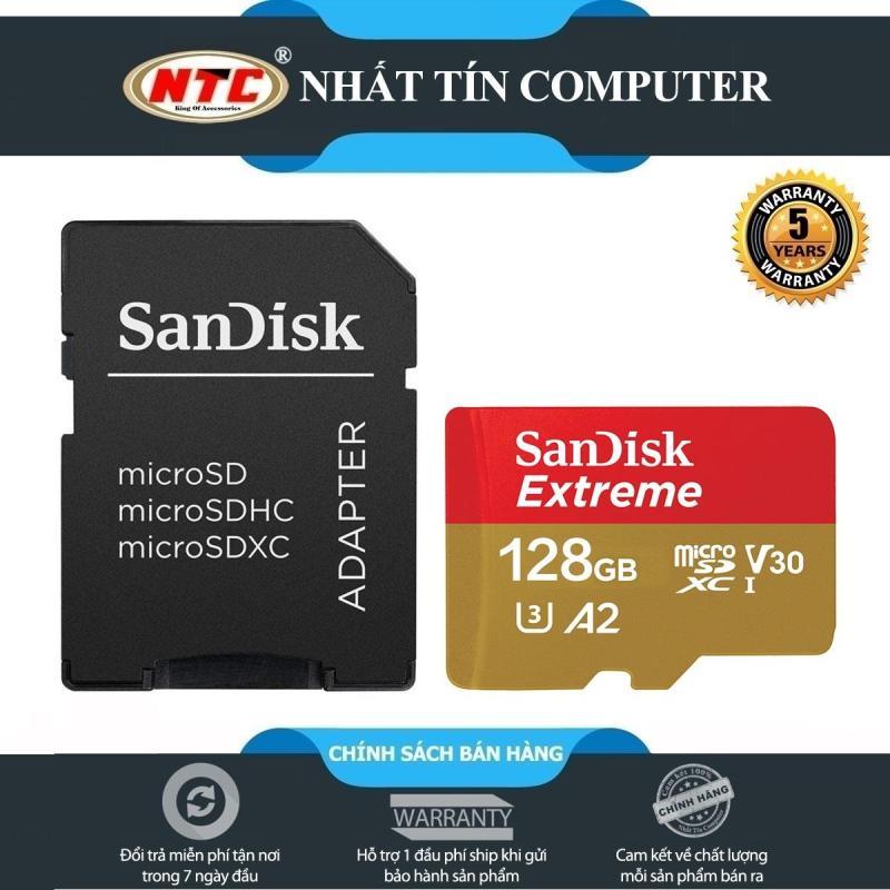 Thẻ Nhớ MicroSDXC SanDisk Extreme V30 U3 4K A2 128GB R160MB/s W90MB/s (Vàng)