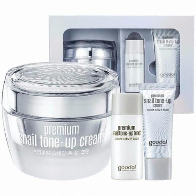 Kem dưỡng trắng và bật tone da tức thì chiết xuất Ốc Sên Goodal Premium Snail Tone-Up Cream 50ml cao cấp