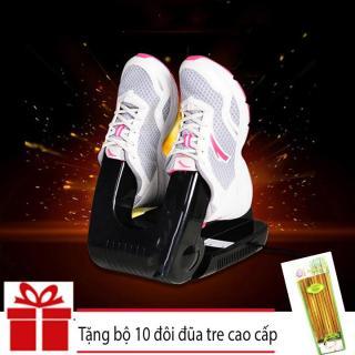 Máy sấy khô giầy khử mùi hôi cao cấp Giá Tốt Qiao (Đen) + Tặng bộ 10 đôi đũa tre cao cấp Cao Phong thumbnail