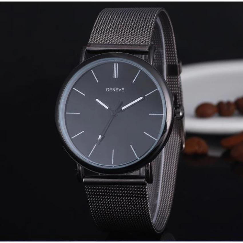 Hình ảnh Đồng hồ nam dây thép hiện đại (Đen)