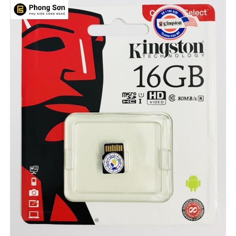 Thẻ nhớ Micro SDHC Kingston 16GB Class10 80mb/s (Hàng tem FPT)