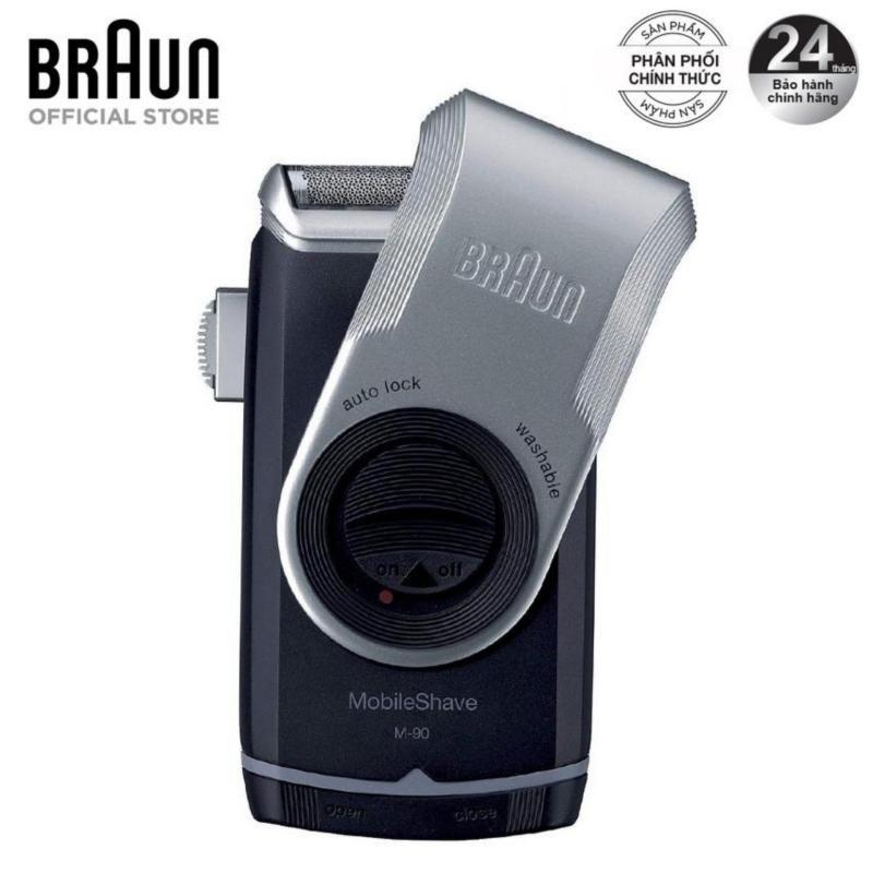 Máy cạo râu du lịch Braun M-90 (Đen xám) - Hàng phân phối chính hãng