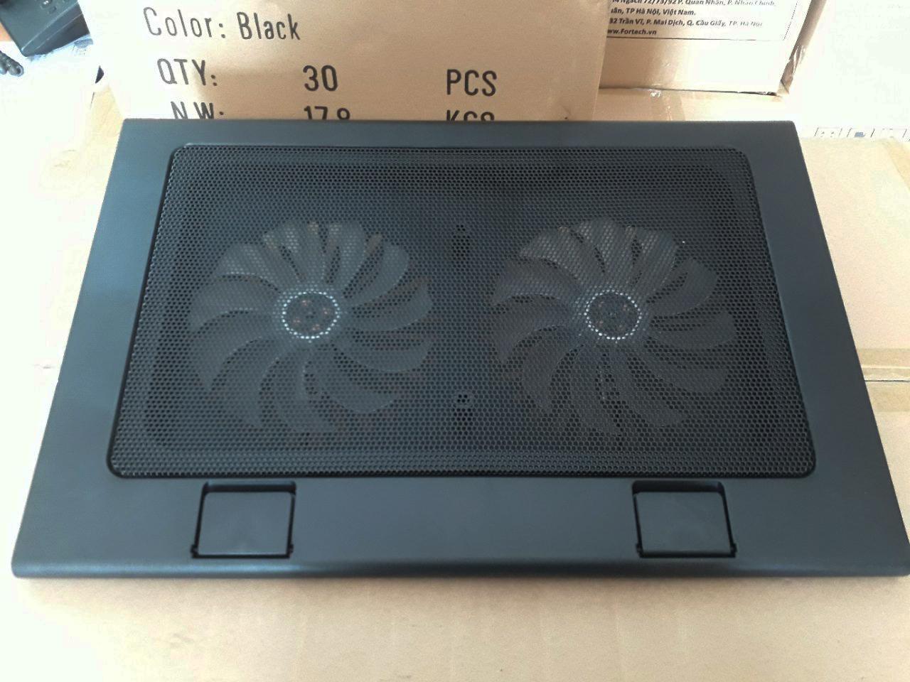 Hình ảnh Đế tản nhiệt laptop Fortech F119 ( 2 quạt )