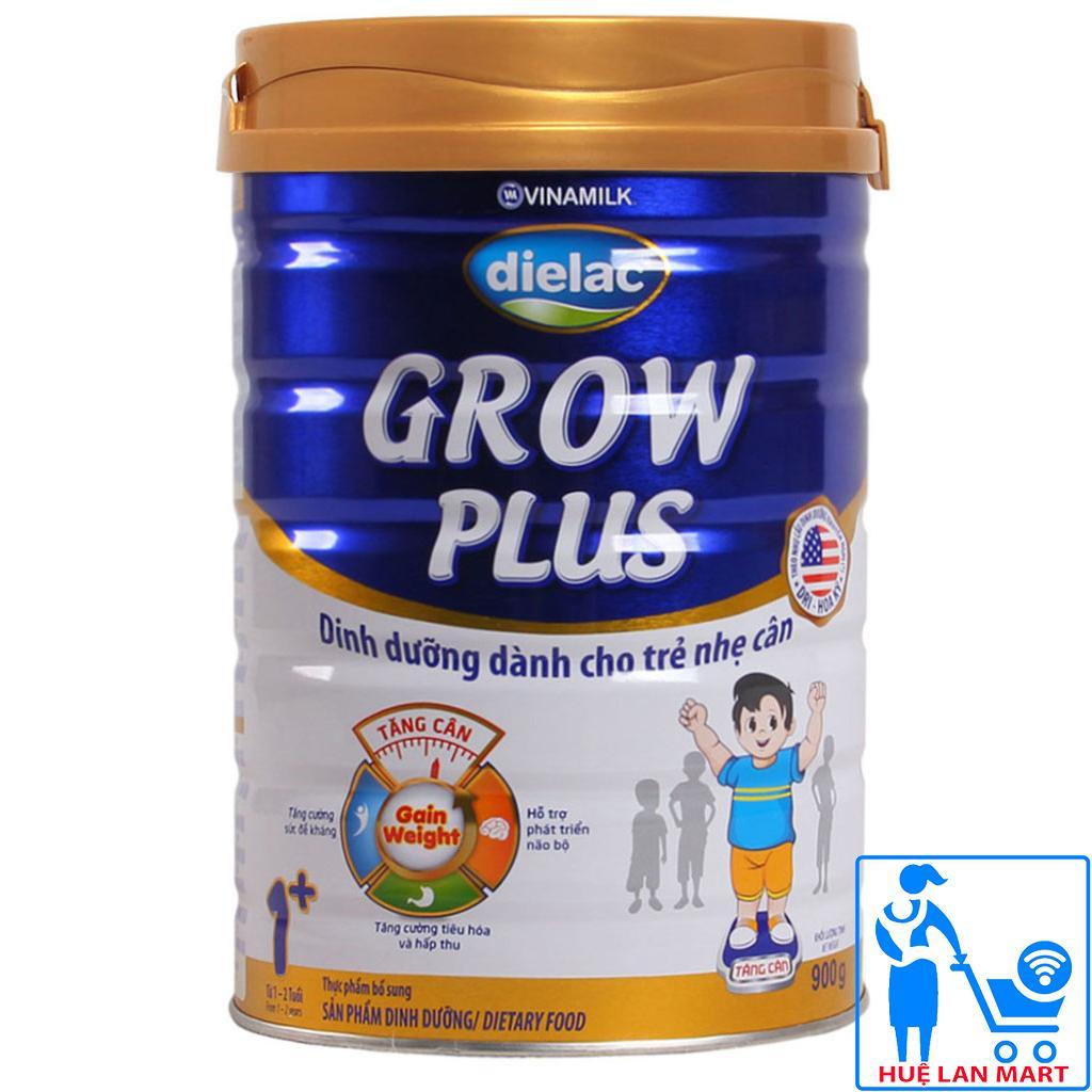 Sữa Bột Vinamilk Dielac Grow Plus 1+ (Xanh) Hộp 900g (Dinh dưỡng dành cho trẻ nhẹ cân từ 1~2 tuổi)